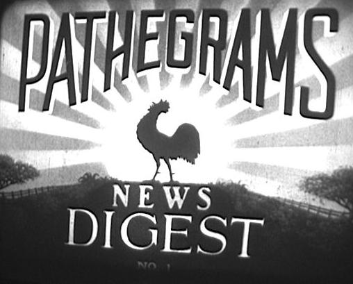 Pathe'grams News Digest title